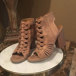 DV tan wedge heels size 6.5 block heels